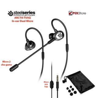 [Mã ELMSHX hoàn 8% xu đơn 500K] Tai nghe nhét tai Steelseries Arctis TUSQ In-ear Dual Microphone mobile gaming headset thumbnail