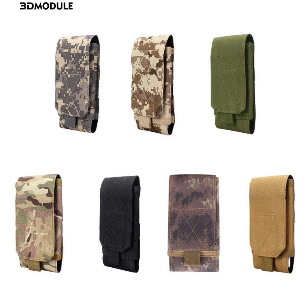 3D🍃Mobile phone bag outdoor sports magic tape Oxford cloth bag