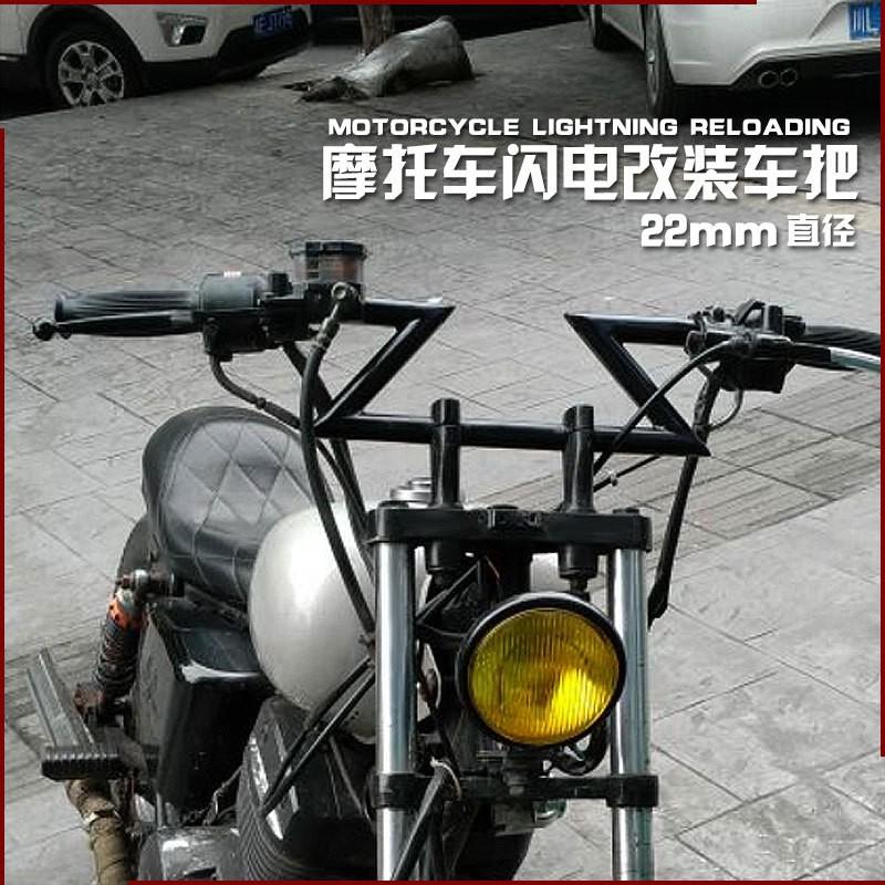 2 Tay Nắm 22mm Cho Xe Mô Tô Harley Cafe Racer Chopper