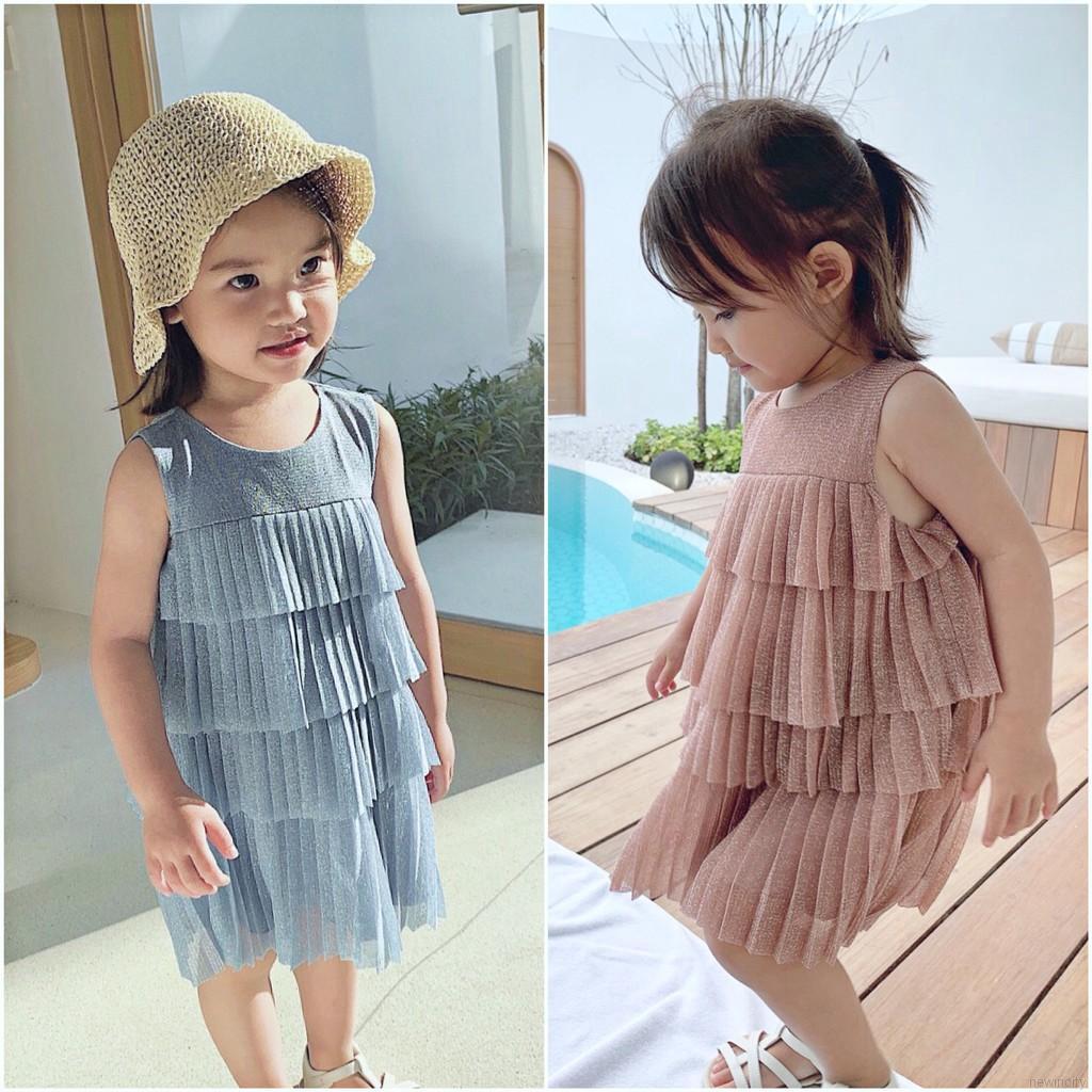 Đầm xòe công chúa kiểu dáng Hàn Quốc cho bé gái