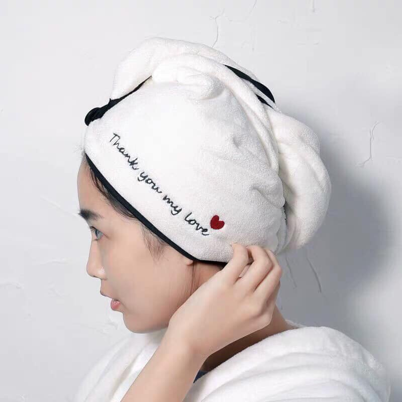 [sẵn] Khăn sấy tóc thần thánh, khăn lau khô tóc siêu tốc