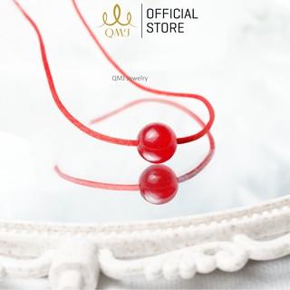 QMJ Vòng cổ chỉ đỏ may mắn mix đá thiên nhiên dây chuyền đôi cho cả nam và nữ Q416 thumbnail