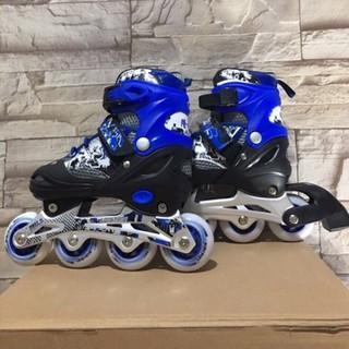 Giày Trượt Patin Trẻ Em Long Feng 906 có đèn chính hãng – Hồng, Xanh, Đỏ, đen trắng