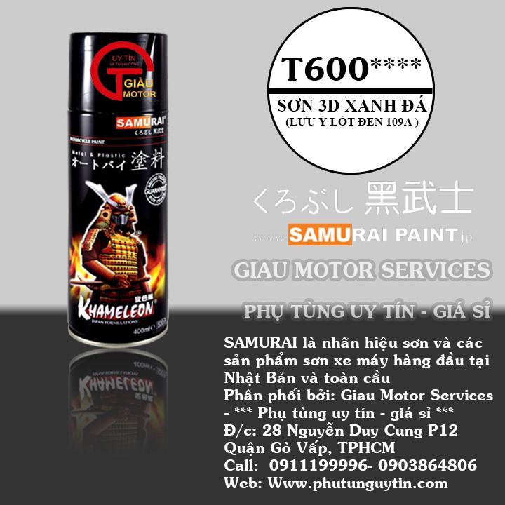 [RẺ VÔ ĐỊCH] T600 _ sơn xịt Samurai paint K7- T600 màu 3D xanh đá  đổi màu theo góc nhìn