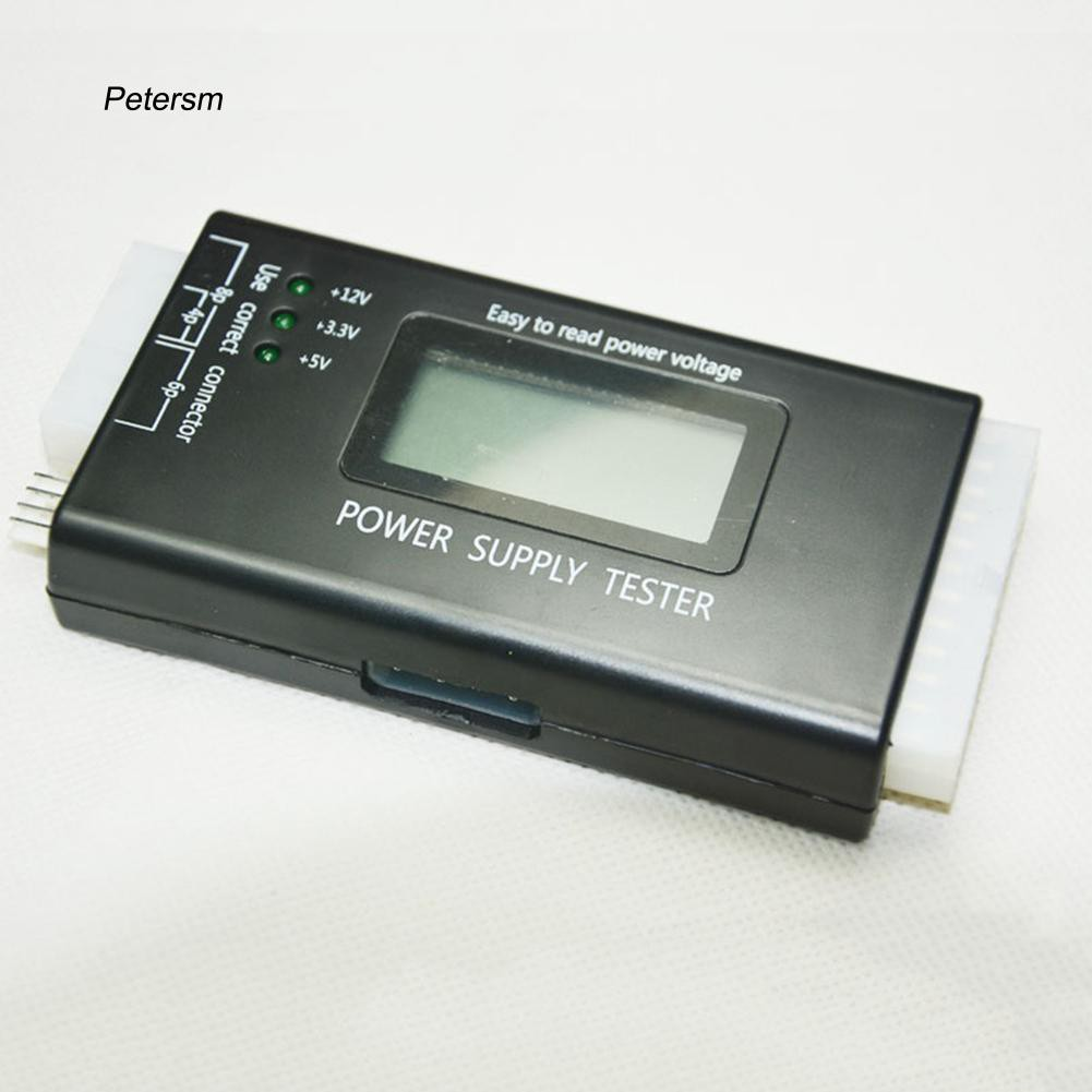 PST_Multifunctional Computer ATX 20/24Pin Digital LCD Power Supply Tester Meter