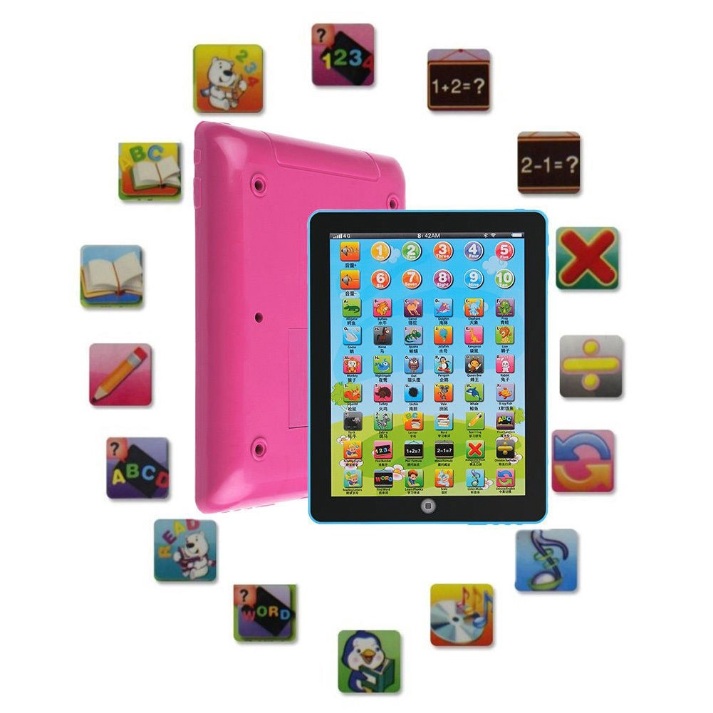 New Baby Tablet Pad Computer Learning English Educational Teach Toy Gift 1-3Y