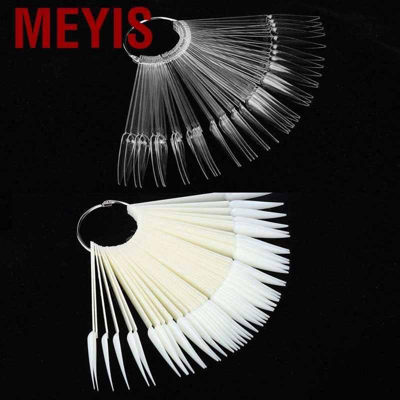 Meyis False Nail Tip Sticks Manicure Polish Gel Display Practice Tools