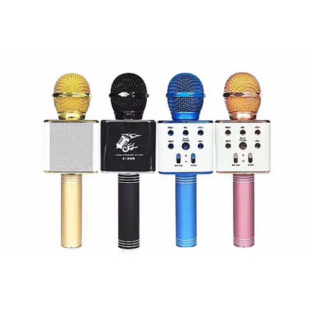 [SALE 10%] Micro karaoke 3 in 1 bluetooth C-336