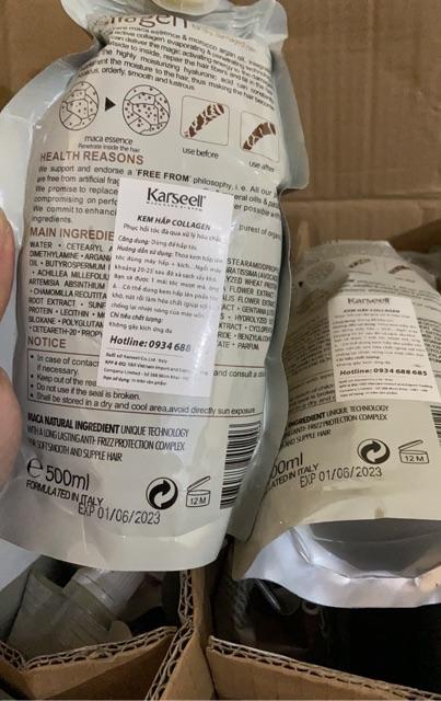 [Hàng Chuẩn] Kem Ủ Tóc Phục Hồi Hư Tổn Karseell Maca 500ml