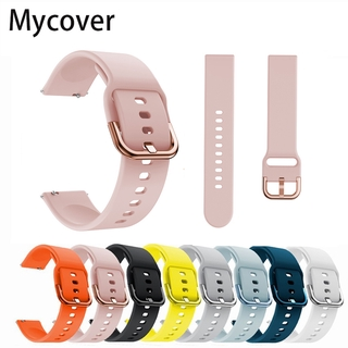 Dây đeo silicon cho đồng hồ Apple Watch Series 6 Se 2020 5 4 3 2 1 Samsung Galaxy Active 2 40 44 38 42 mm 20mm 22mm