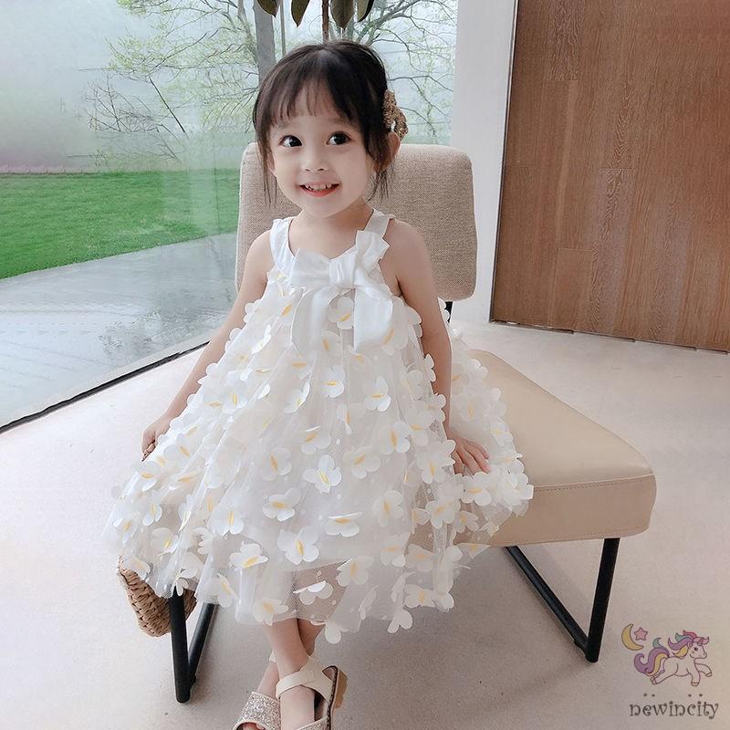 Đầm bé gái họa tiết hoa phong cách Hàn Quốc thời trang mùa hè mẫu mới