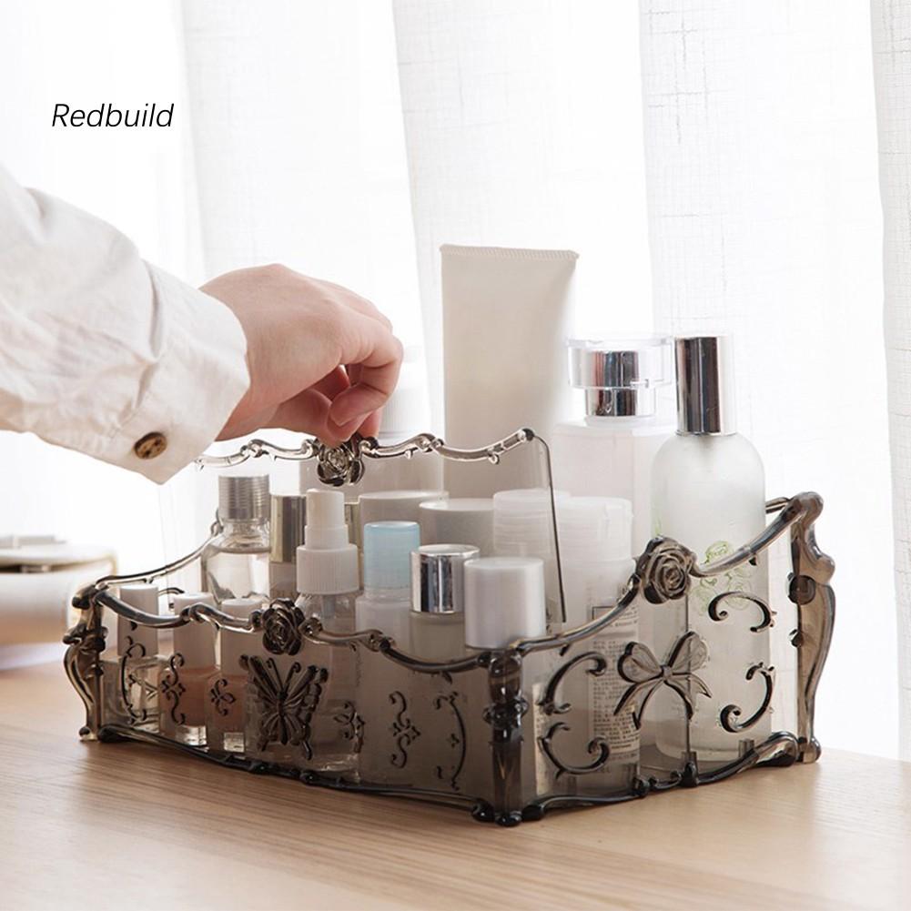 Makeup Organizer Desktop Storage Box Home Remote Control Cosmetics Case Holder