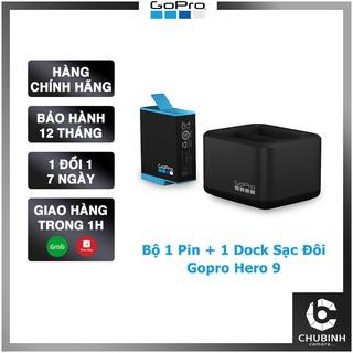 Bộ Dock Sạc Đôi và Pin GoPro Hero 9 Dual Battery Charger + Battery for Gopro 9 Chính Hãng thumbnail