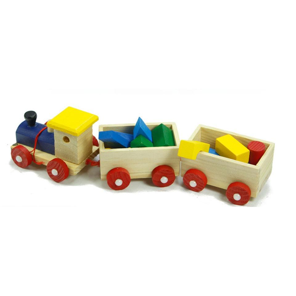 DHS Bộ đồ chơi xe lửa bằng gỗ