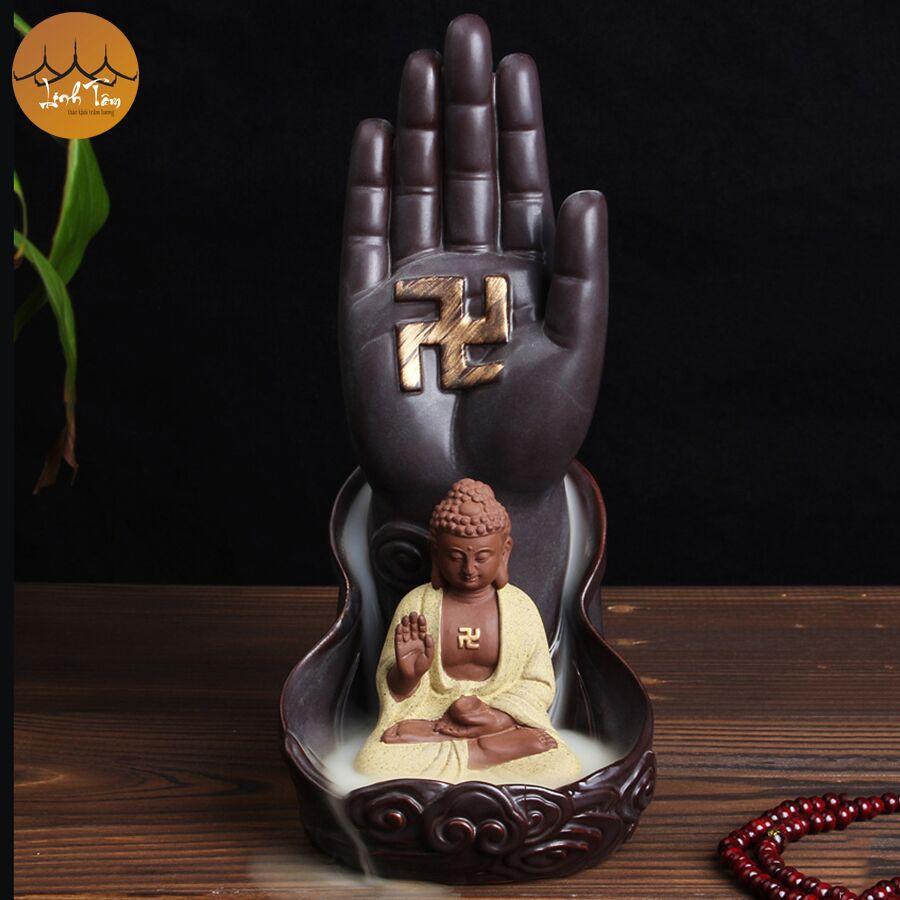 Thác khói trầm hương để bàn tặng 3 nụ trầm - Thủ Ấn Phật Tổ Như Lai - 3274036 , 1341097942 , 322_1341097942 , 349000 , Thac-khoi-tram-huong-de-ban-tang-3-nu-tram-Thu-An-Phat-To-Nhu-Lai-322_1341097942 , shopee.vn , Thác khói trầm hương để bàn tặng 3 nụ trầm - Thủ Ấn Phật Tổ Như Lai