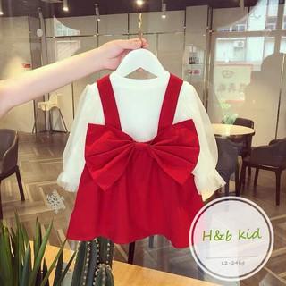 (bán sỉ) sét váy nhung kèm áo trong tay bồng thiết kế