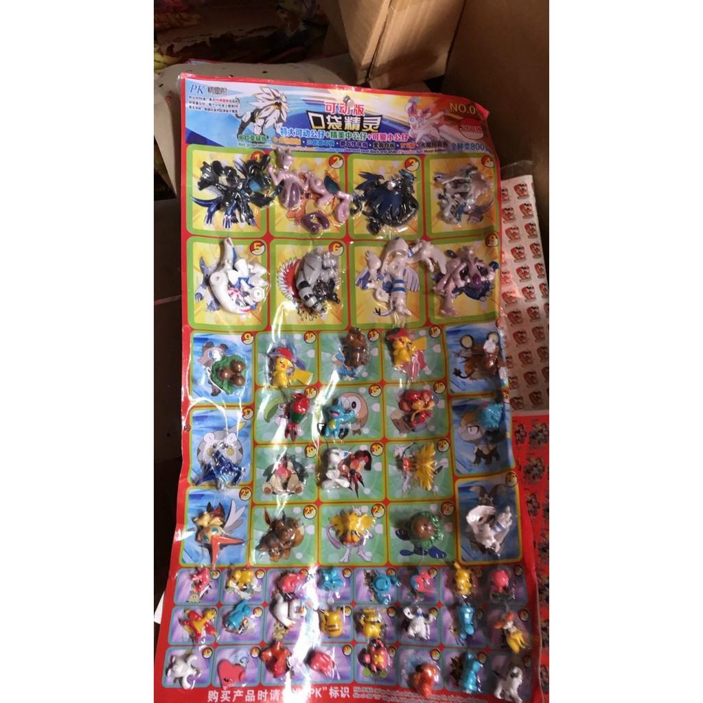 Vỉ Thú Pokemon 42 Con Vật Mô Hình Khác Nhau Nhiều Size [Giá ưu đãi]