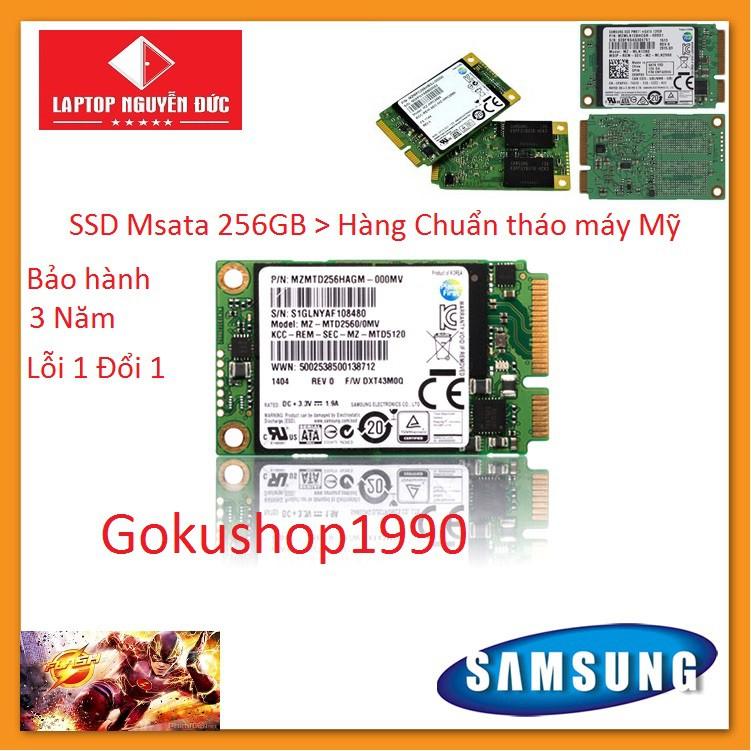 Ổ Cứng Cho Laptop SAMSUNG 256Gb Chuẩn Msata (M1) - Hàng Xịn chuẩn tháo máy bảo hành 3 năm