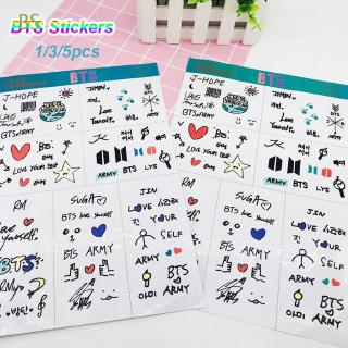 BS 1/3/5PCS Phone Decor Photo Laptop DIY Craft Kpop Fashion Self Adhesive BT21 Stickers