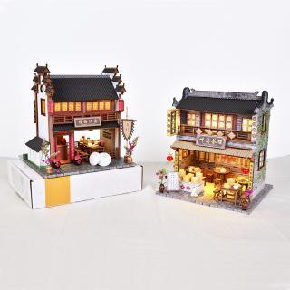 Bộ đồ chơi lắp ráp hình cửa hàng kiểu trung hoa dễ thương đẹp mắt