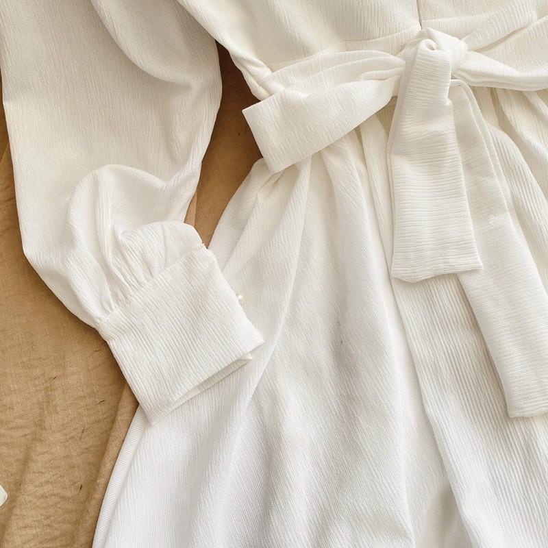 Mặc gì đẹp: Sang chảnh với [CÓ MÚT NGỰC] Đầm dự tiệc hở lưng cổ V có nơ lưng cực hot mặc dự tiệc dạo phố đều xinh mã [Nơ LYV]