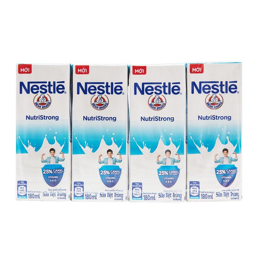 Lốc 4 Hộp Sữa Nước Nestlé có đường (180ml /hộp)
