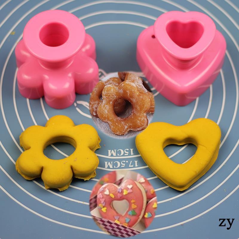 Baking Mold Tool Flower Shape Love Donut Bread Mold Engravin
