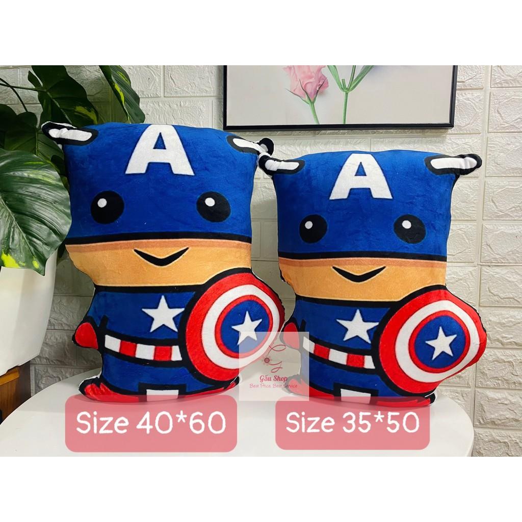 [Gối Handmade] Gối in Captain America, nhồi bông cao cấp