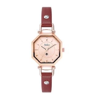 Đồng hồ nữ Julius Hàn Quốc JA-750 dây da mặt lục giác ( Nâu ) thumbnail