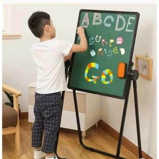 Giá vẽ cho bé trai và bé gái – Bảng viết vẽ 2 mặt FlipChart cho bé xoay 360 độ