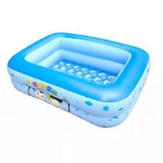 [LuxCeo] Bể bơi chữ nhật (120 x 85 x 35cm) kiêm Nhà bóng cho trẻ Smart Store