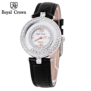Đồng hồ nữ chính hãng Royal Crown 3628 dây da đen thumbnail