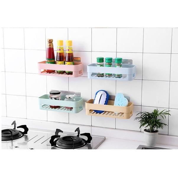 Kệ đựng đồ nhà tắm, nhà bếp hút chân không (có 2 loại tam giác và chử nhật)