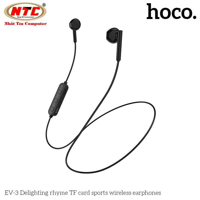 Tai nghe bluetooth nhét tai Hoco EV-3 V5.0 Hỗ trợ khe gắn thẻ nhớ - Hàng chính hãng