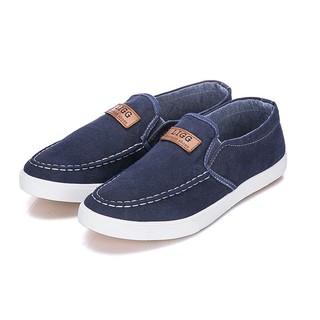 Giày Lười Vải Jean Thời Trang - Màu Xanh Đậm thumbnail