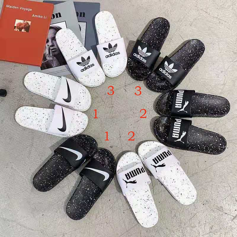 Fashion Summer Couple Slippers Women Beach Sandals Shoes Flats Slippers Men Bedroom Slippers