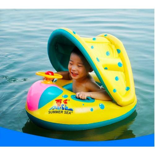 Phao bơi cho bé có mái che Siêu Bảo Vệ cho bé – Skylife