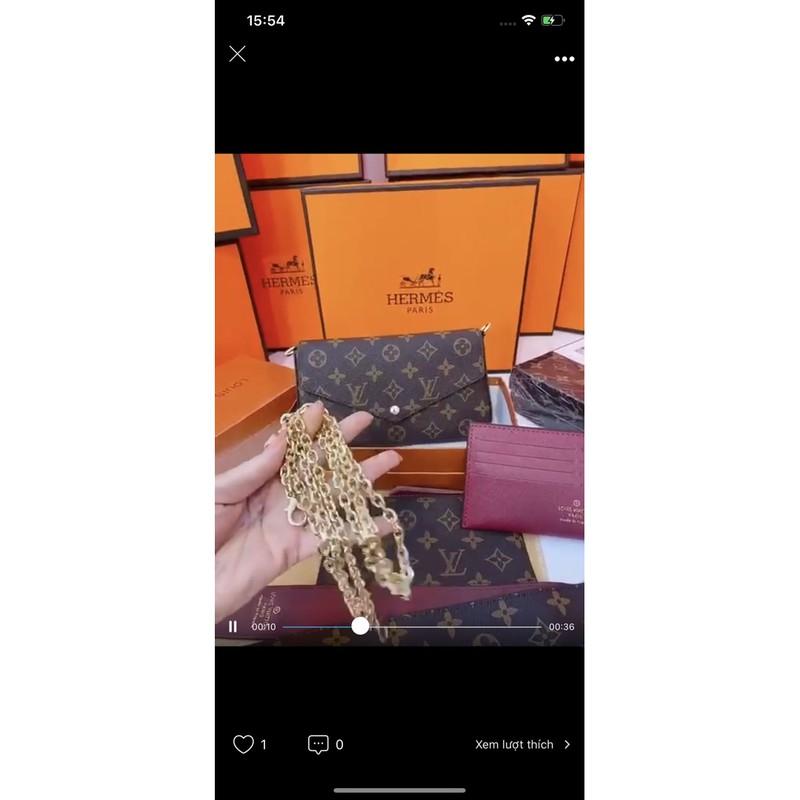 [Mã SKAMPUSHA7 giảm 8% tối đa 50K đơn 250K] [SET 3 CHI TIẾT MỚI] Set túi 3 món kèm có 2 dây đeo ví size 20(có hộp)