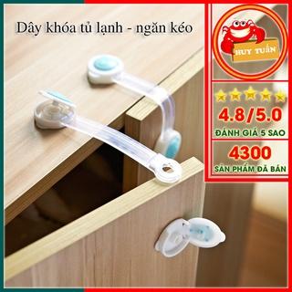 Khóa ngăn kéo/ khóa tủ lạnh loại bền, chắc – Dây khóa đa năng – Chốt an toàn tủ đồ/ ngăn kéo/ tủ lạnh