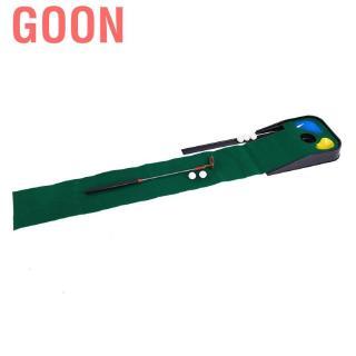 Goon Children Golf Putting Trainer Portable Oudtoor Indoor 3 Holes Golfing Practice Green Mat Club Balls Ki