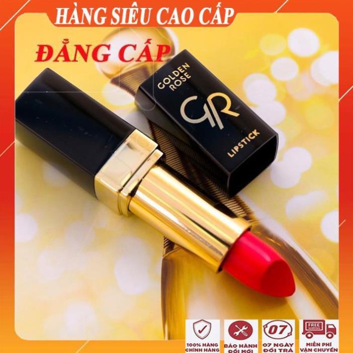 Son lì đẹp lâu trôi golden rose lipstick/Son môi cao cấp không lem, không khô môi