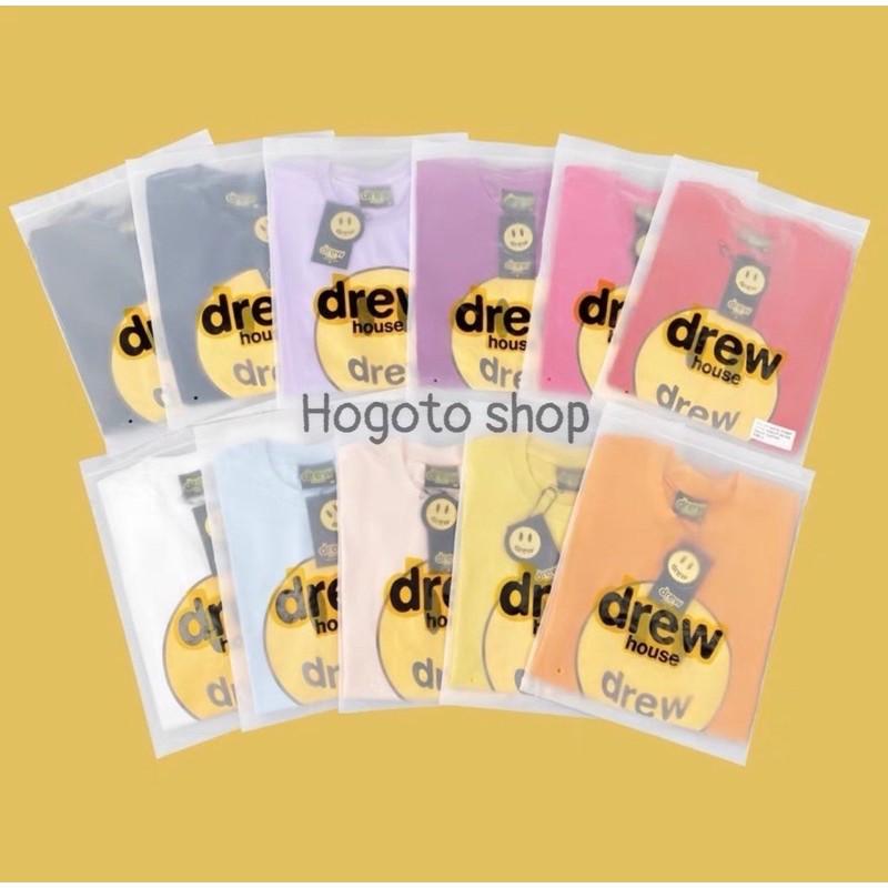 Áo thun tay lỡ DREW House Mặt cười Hogoto shop , Áo thun unisex nam nữ form rộng oversize chất liệu Cotton