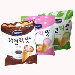 Bánh Hàn Quốc Adorable ốc quế nhân kem (300g)