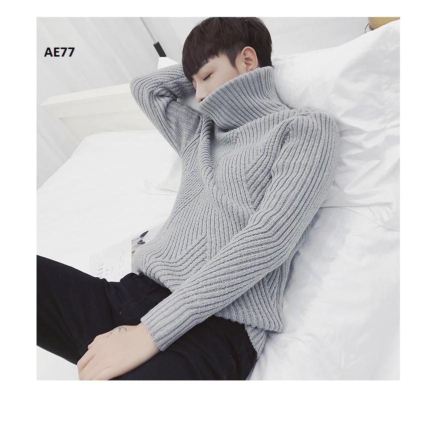 Áo len nam cao cổ thời trang - Áo len