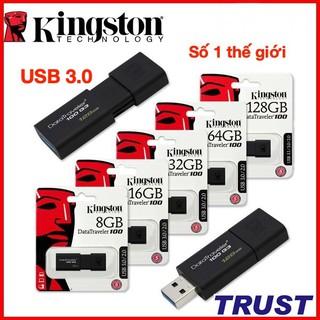 Ổ cứng di động USB 3.0 Kingston -16GB, 32GB, 64GB, 128GB-Bảo Hành 5 Năm-Hàng Chính Hãng FPT