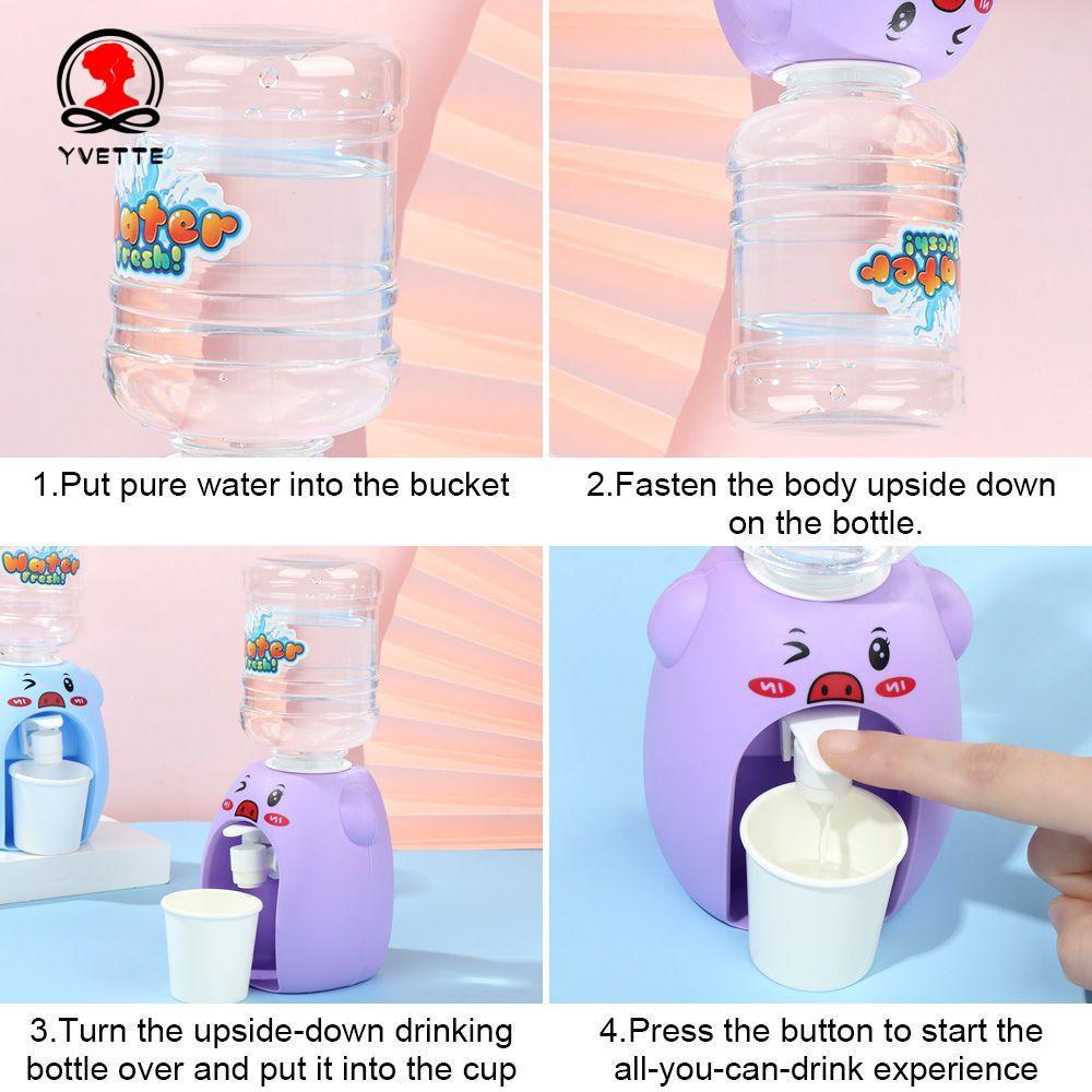 Bình đựng nước Mini họa tiết hoạt hình cho nhà búp bê