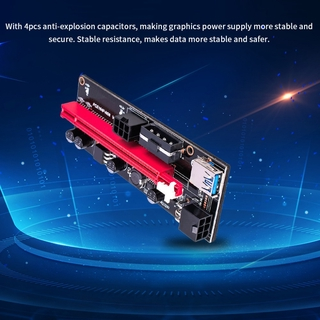 100% Authentic♛ Usb 3.0 Pci-E Riser Ver 009S Express 1X 4X 8X 16X Extender Riser Adapter Card Sata 15Pin to 6 Pin Power Cable ✪ABSO