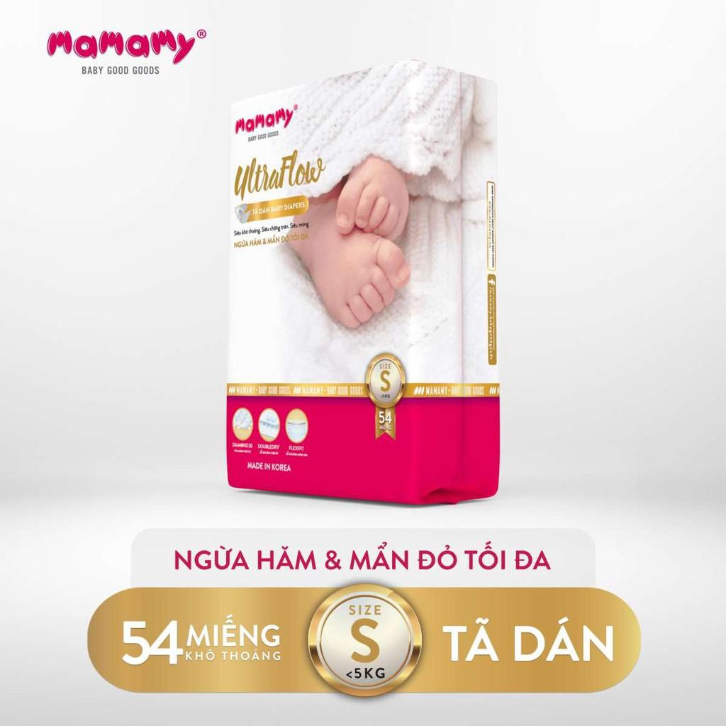 Tã Dán Mamamy Ultraflow Ngừa Hăm Và Mẩn Đỏ Tối Đa Cho Bé Size S (54 Miếng) - 14023596 , 2095606462 , 322_2095606462 , 360000 , Ta-Dan-Mamamy-Ultraflow-Ngua-Ham-Va-Man-Do-Toi-Da-Cho-Be-Size-S-54-Mieng-322_2095606462 , shopee.vn , Tã Dán Mamamy Ultraflow Ngừa Hăm Và Mẩn Đỏ Tối Đa Cho Bé Size S (54 Miếng)