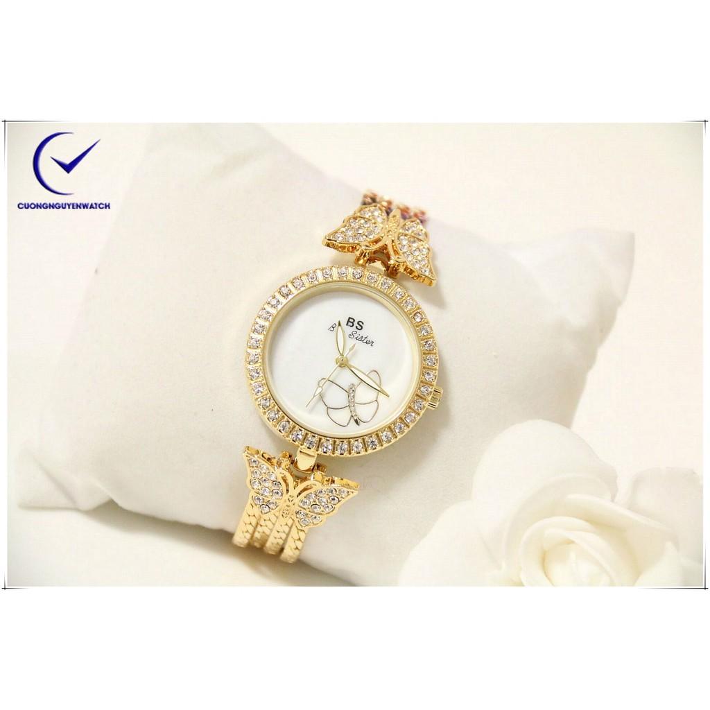 Đồng hồ nữ Bee Sister họa tiết bướm cá tính -BS31V - (Vàng)