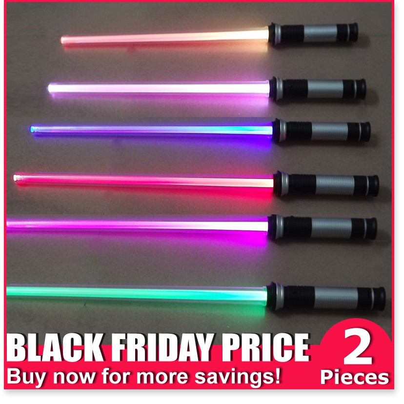 Star Wars Bộ cảm biến ánh sáng thay đổi màu Thanh kiếm laze đầy màu sắc Đồ chơi phát sáng Bộ kết hợp đèn flash,Thương hi